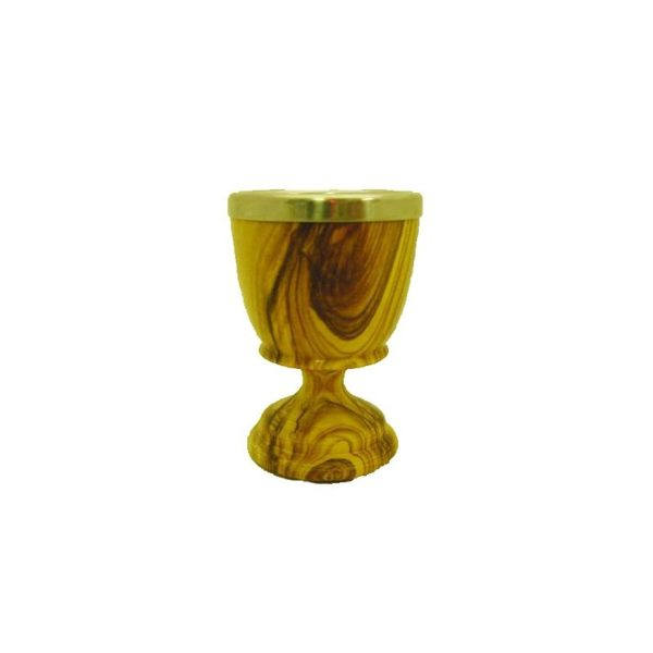 Olive Wood Communion Cups – Stainless Steel Inserts 2.4 inches