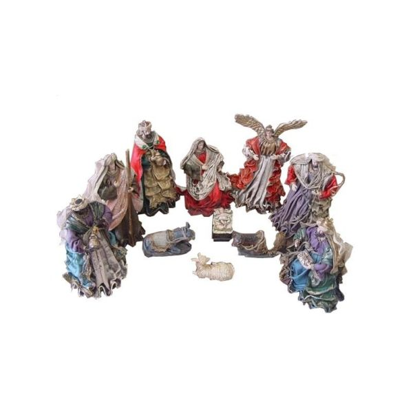 Resin Nativity Set Clothing Body 12 Inches 11 pieces NSC12