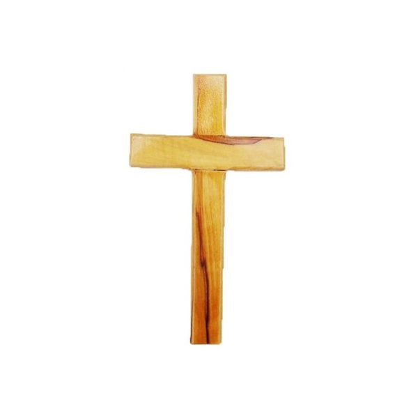 Olive Wood Cross Polished and Carved around