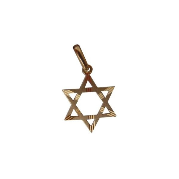 Star Of David Diamond Cut 14K solid Gold New Style 2 sizes
