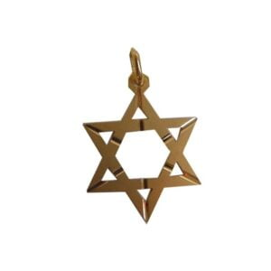 Star of David 18K solid Gold diamond cut New style 4 sizes