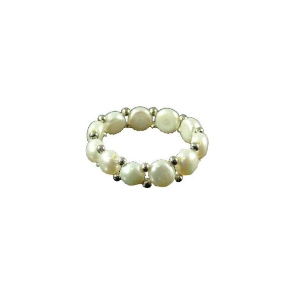 Fresh Water Pearl Ring one line one size 3-5mm