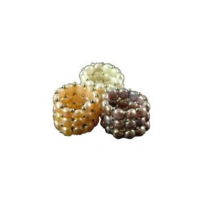 Fresh Water Pearl Ring 3 lines one size 3-5mm
