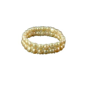 3 Colors & styles pearl bracelets 2 lines 5-7mm
