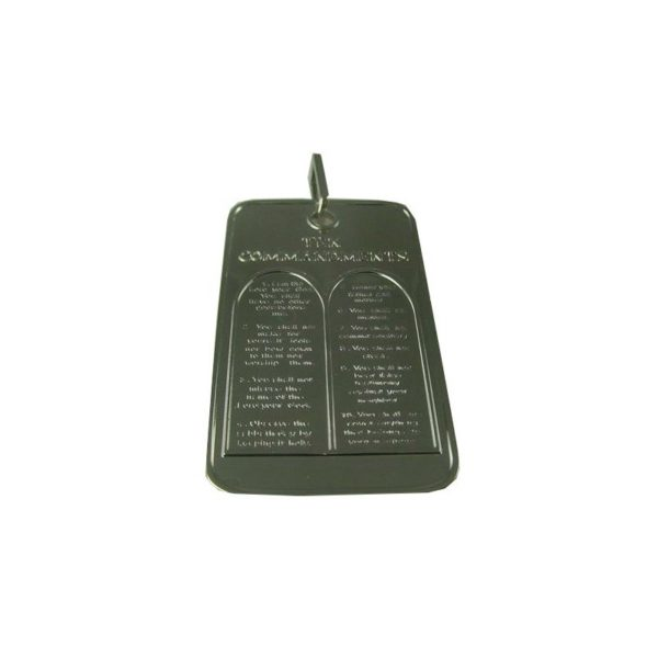 Messianic Sign And Ten Commandments Dog Tag Style Pendant
