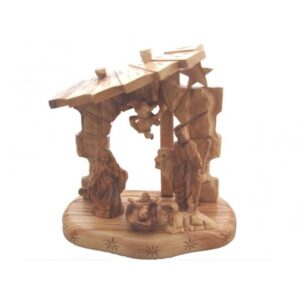 Olive Wood Nativity Set One Piece 8.5*8.5*5.0 inches OWF01