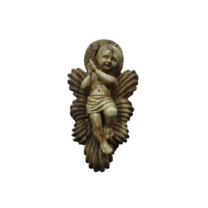Olive Wood Baby Jesus In Cradle 14*8*6 inches OWBM36