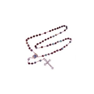 Crystal Rosary-Red Color-Bethlehem 2000 Logo RS01