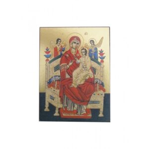 Virgin Enthroned Unframed Icon IC412