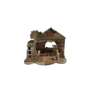 Olive Wood Nativity Set With Music OWN07