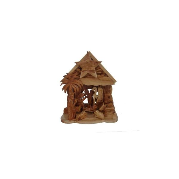 Olive Wood Nativity Set With Music OWN01