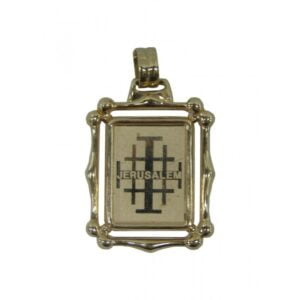 18K Yellow Gold Jerusalem Cross imprinted JCG71