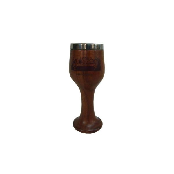 Acacia Wood Communion Cup 8″