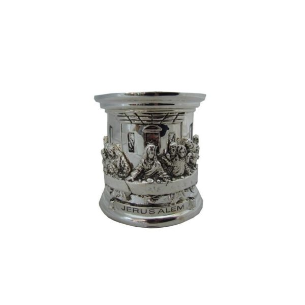 Silver Plated Last Supper Candle Holder Box