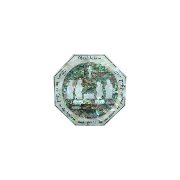 Mother Of Pearl Block-Nativity-MOPGB04