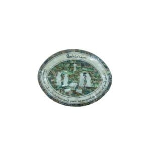Mother Of Pearl Oval Block Nativity