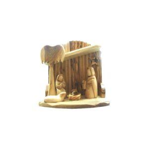 Olive Wood Nativity Scene – Faceless ArtOWNH1