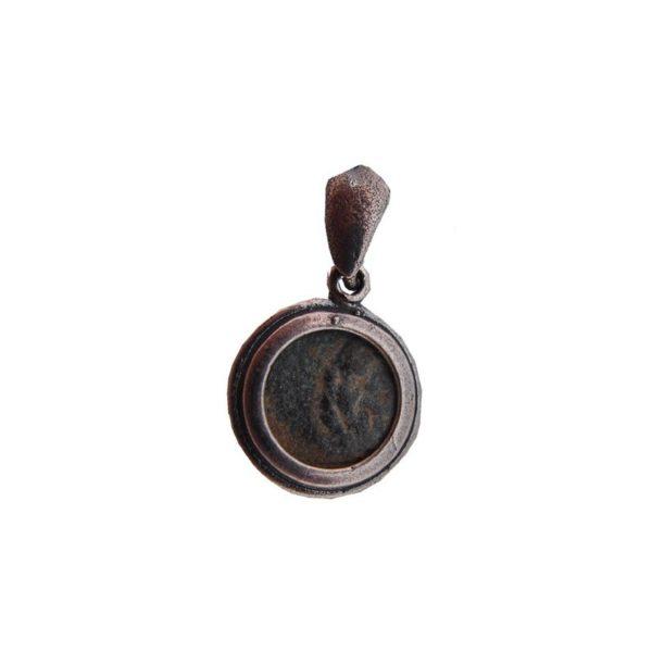 Widow's Mite Pendant Ancient Bronze 15mm