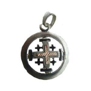 Sterling Silver Jerusalem Cross In A Cycle SSJCG2