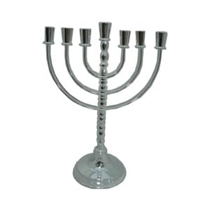 Silver Plated Menorah that Revolves MSRP01