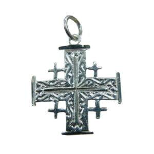 Jerusalem Cross Pendant Sterling Silver