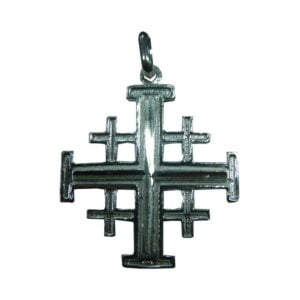 Jerusalem Cross Pendant Sterling Silver Large