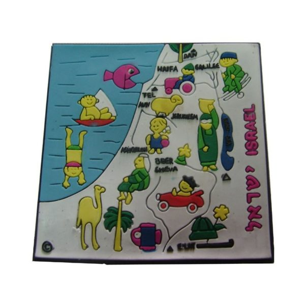 Israel Map Magnet Picture CM23