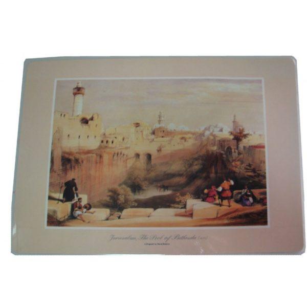 Jerusalem, The Pool Of Bethesda (1839) Placemat DM015