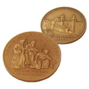B2000 WiseMen Coin – Three Sizes – Bronz WB60MM
