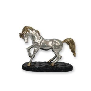 Electroforming Sterling Silver 925 Horse On Stand AN008