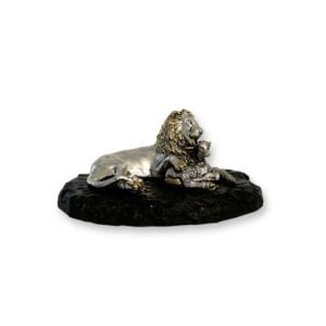 Electroforming Sterling Silver 925 Lion & Lamb On Stand AN010
