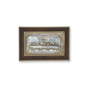 Electroforming Sterling Silver 925 Framed Last Supper FR001