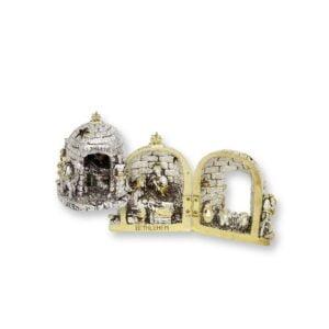 Olive Wood Nativity – Domed