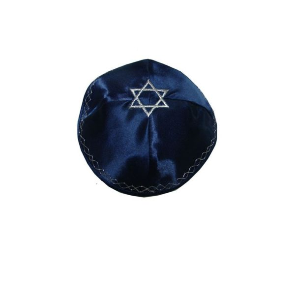 Kippah Yarmulke with Star Of David Embroidery
