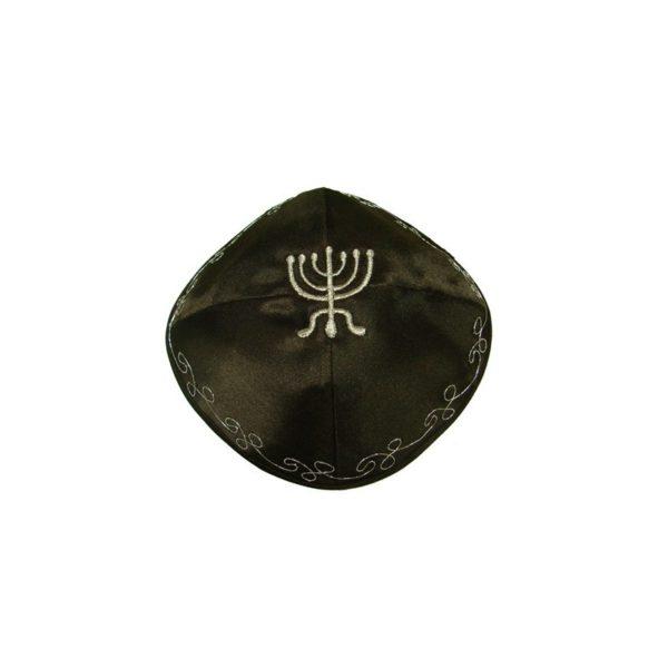 Kippah Jewish Cap-Menorah-Four Colors MK04M