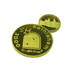 B2000 Logo Coin – Three Sizes – Gold Plated- LG60MM