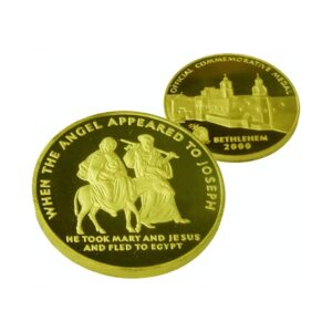 B2000 Flight to Egypt Coin – Three Sizes – Gold Plated – FG60MM