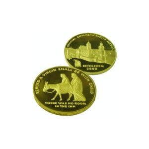 B2000 Nazreth Coin – Three Sizes – Gold Plated NAZG60MM