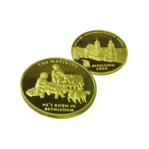 B2000 Nativity Coin – Gold Plated – Three Sizes – NG60MM