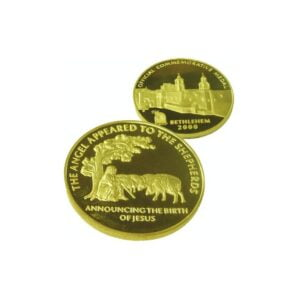 B2000 Shepherds Field Coin -Gold Plated – Three Sizes – SHG60MM