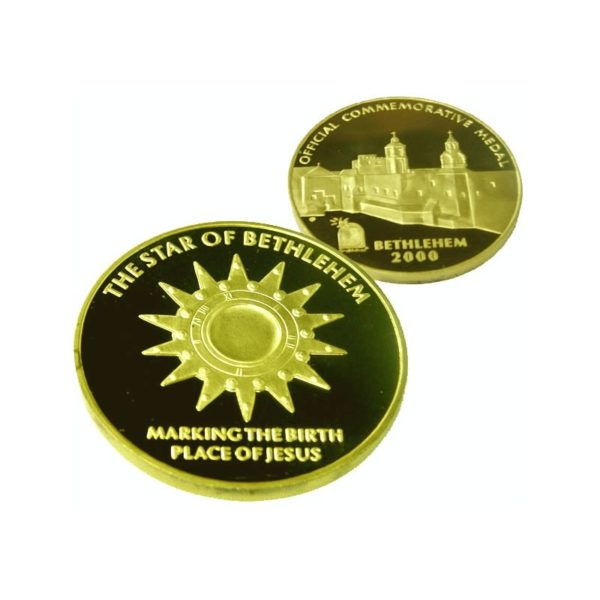 B2000 Star Coin – Three Sizes – Gold Plated – SG60MM