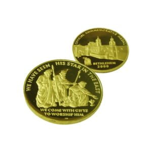 B2000 WiseMen Coin – Three Sizes -Gold Plated – WG60MM