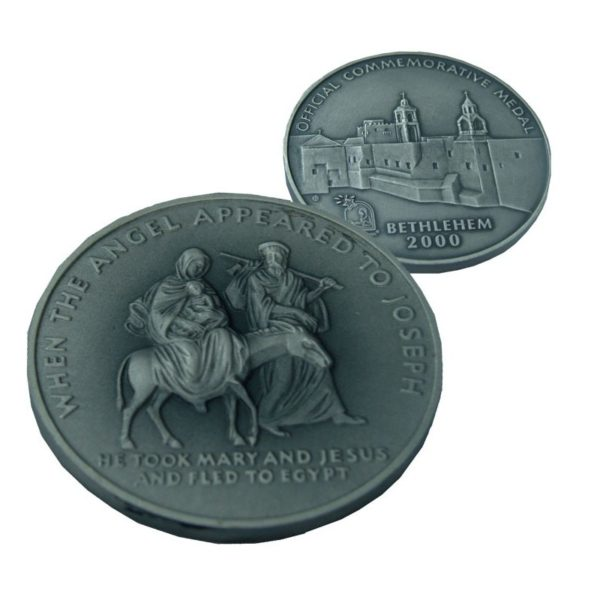 B2000 Flight to Egypt Coin – Three Sizes – Patinated FP60MM