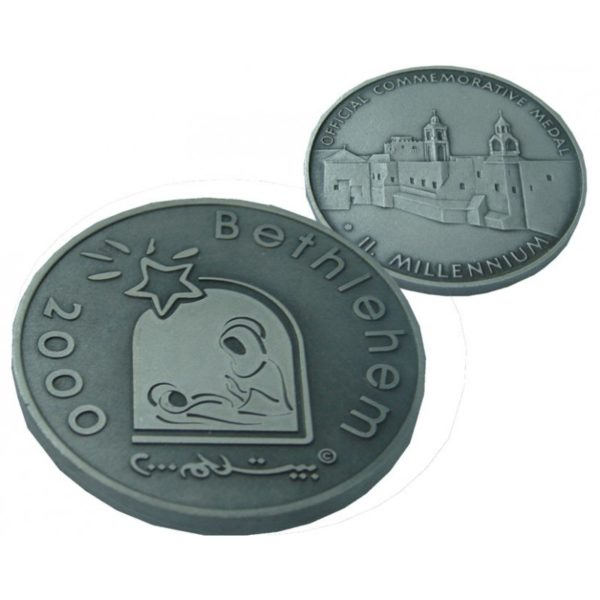 B2000 Logo Coin -Three Sizes – Patinated LP60MM