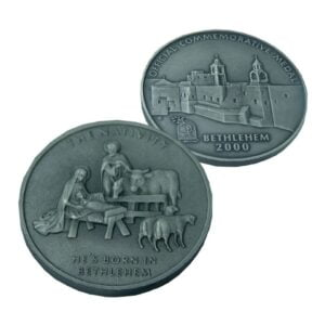 B2000 Nativity Coin – Patinated – Three Sizes – NP60MM