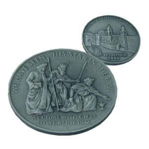 B2000 WiseMen Coin – Three Sizes – Patinated WP60MM