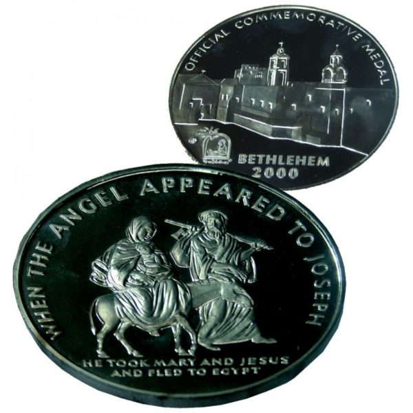 B2000 Flight to Egypt Coin – Three Sizes – Silver Plated FS60MM