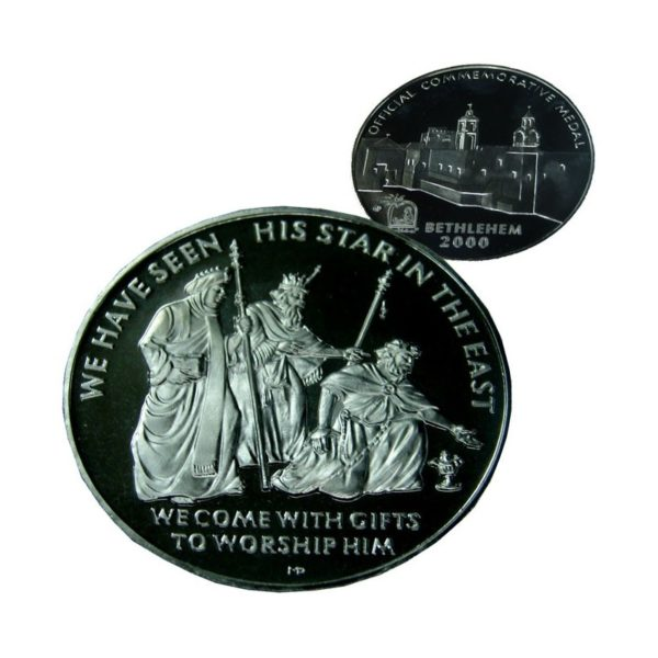 B2000 WiseMen Coin – Three Sizes – Silver Plated – WS60MM