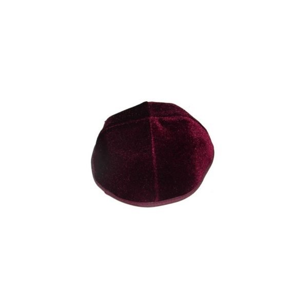 Velvet Kippah Plain – Five Colors  – LOG02P