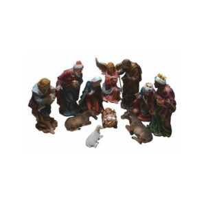 24 Inches Nativity Set Resin 11 Pcs-Colored-RNS24C
